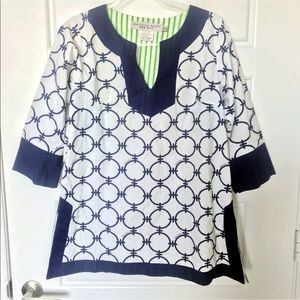Gretchen Scott baby & white tunic top